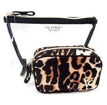b187638eeb Image Unavailable. Image not available for. Color  Victoria s Secret Makeup  Bag Cosmetic Bag Duo Set Leopard Print