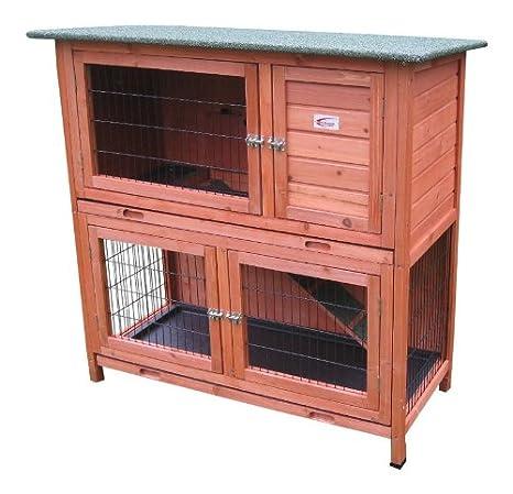 Bunny Business- Madriguera de dos pisos para conejo/cobaya, con bandejas deslizantes, 41 pulgadas: Amazon.es: Productos para mascotas