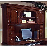 Chocolate Patina Curio Overhead Storage Hutch