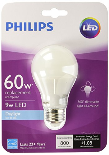 Day Time Light Bulbs: Phillips 455873 9 Watt Led Daylight Light Bulb