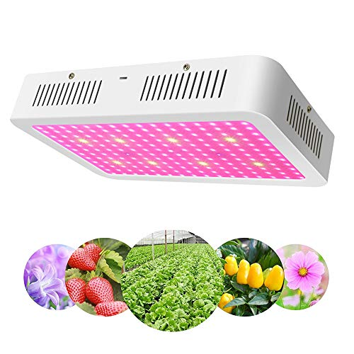 Vander 1200W LED Plant Grow Lights Full Spectrum UV IR Grow Lamp for Indoor Gardens Energy-Saving Hydroponic Plant Growing System for Greenhouse Home Office Veggies & Flowers by Vander LIFE