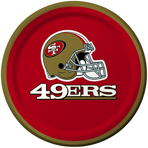 Creative Converting 8 Count San Francisco 49ers Paper Dessert Plates