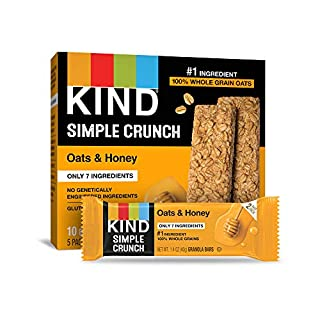 KIND Simple Crunch Bars, Oats & Honey, 1.4 Ounce (Pack of 40)
