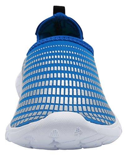 Louechy Unisex Quick Drying Aqua Water Zapatos Slip On Zapatos Ligeros Para Caminar Azul