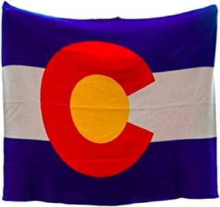 product image for in2green Colorado Flag Throw - Ultra Luxury Eco Blanket, USA Made