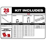 Milwaukee SAE Ratchet Socket Mechanics Tool Set 3/8 in. Low Profile Packout Case