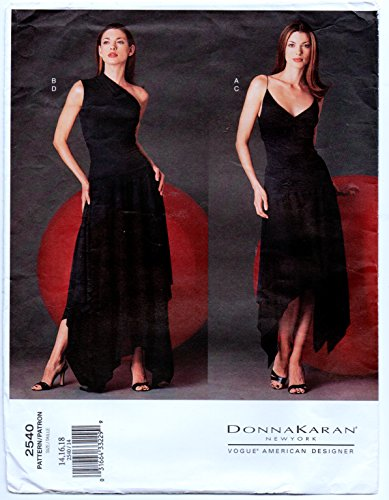 Vogue American Designer 2040 Misses' Top and Skirt - Evening Wear Sewing Pattern Donna Karan Size 14-16-18 (Patterns Gown Evening Vogue)