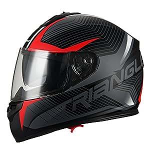 Amazon.com: Casco de motocicleta Triangle de doble visera ...