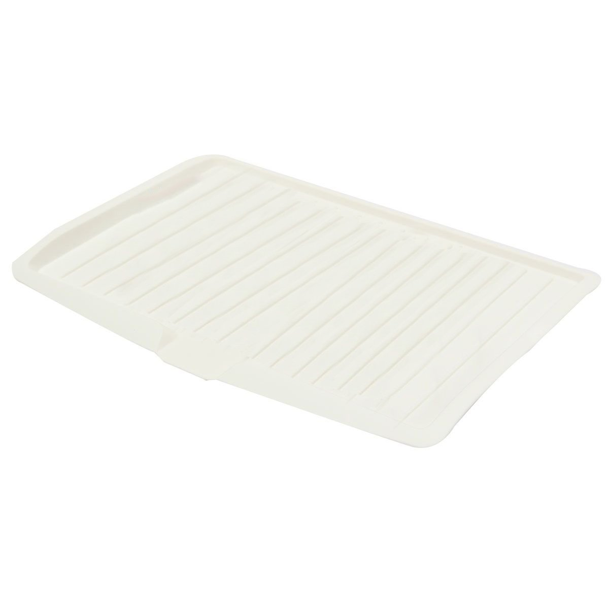 Amazon.com: Plastic Dish Drainer Drip Tray Plate Cutlery Rack Kitchen Sink Holder Material Environmental And Safe Durable Practical Convenient Perfect For ...