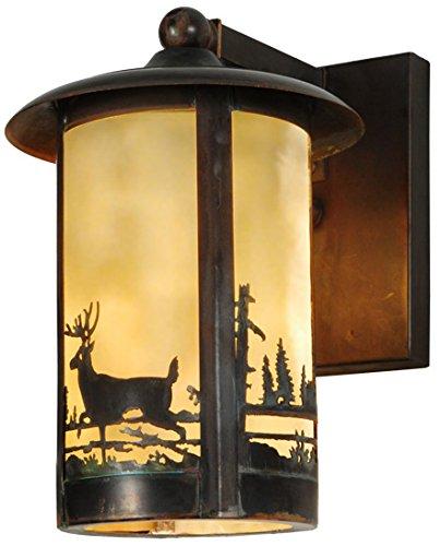 Meyda Deer - Meyda Tiffany 142107 Fulton Deer Creek 1 Light Wall Sconce, 8