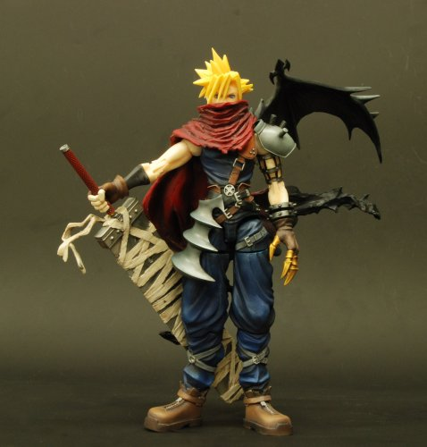 51Oe4HAM%2BvL - Kingdom Hearts Play Arts Vol. 2 Action Figure - Cloud Strife Coliseum Ver.