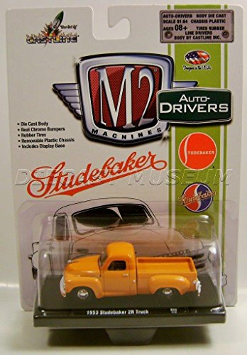 Driver Diecast (1953 '53 STUDEBAKER 2R PICKUP TRUCK ORANGE R34 M2 MACHINES DRIVERS DIECAST)