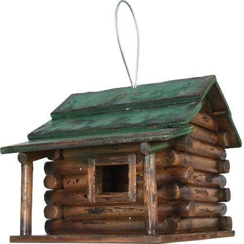 - Rivers Edge Products Log Cabin Birdhouse