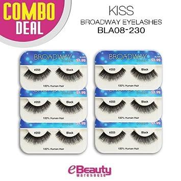 9de457a87a6 Amazon.com : Kiss Broadway Eyelashes Combo Deal 6-Packs (BLA08) : Beauty