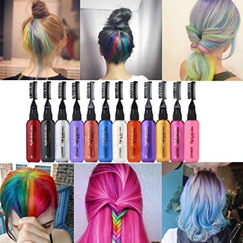 Temporary Hair Dye Mascara Hair Dye Cream Non-toxic DIY Hair Dye Pen (H) ()