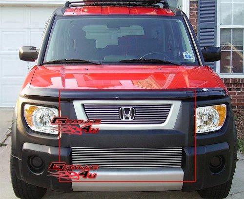 APS Fits 2003-2006 Honda Element Billet Grille Combo #H67837A