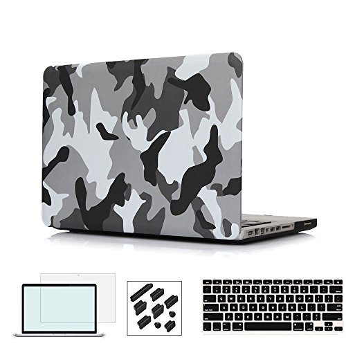 RYGOU Old MacBook Pro 13 Inch (A1278 CD-ROM) Case Bundle with Keyboard Cover Screenshell Only Compatible for MacBook Pro 13 with CD-ROM ()
