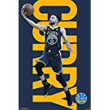 """Trends International Golden State Warriors-Stephen Curry Wall Poster, 22.375"""" x 34"""", Multi"""
