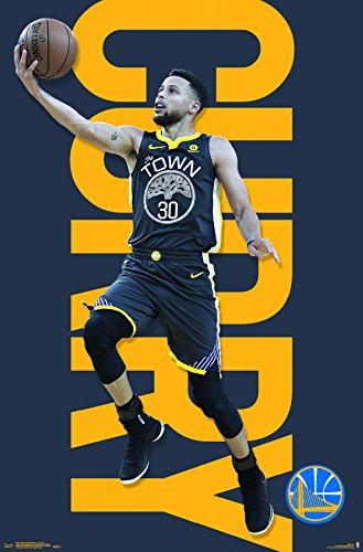 Trends International Golden State Warriors - Stephen Curry Wall Poster, 22.375