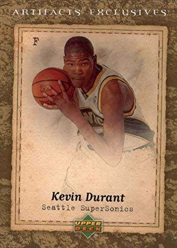 - 2007-08 Upper Deck Artifacts Exclusives - Kevin Durant - Basketball Rookie Card - RC Card #219