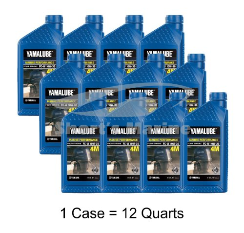 Yamaha 4-Stroke Engine Oil Case of (12) Quarts (Yamaha Four Stroke)