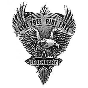 Pin's épinglette Biker aigle Live free ride free pour blouson et gilet