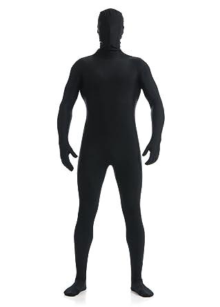 17099aaebb Ovimo Full Bodysuit Lycra Spandex Suit Halloween for Men   Women Black S