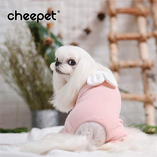 dingsheng Camisa de Ropa de Cachorro Ropa de Cachorro Camiseta de Moda de Perro mascotaTraje Casual de Cuatro Patas para Mascota, Rosa XL: Amazon.es: Productos para mascotas