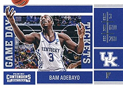 2017-18 Panini Contenders Drafts Picks Game Day Tickets #16 Bam Adebayo Kentucky Wildcats Basketball Rookie Card