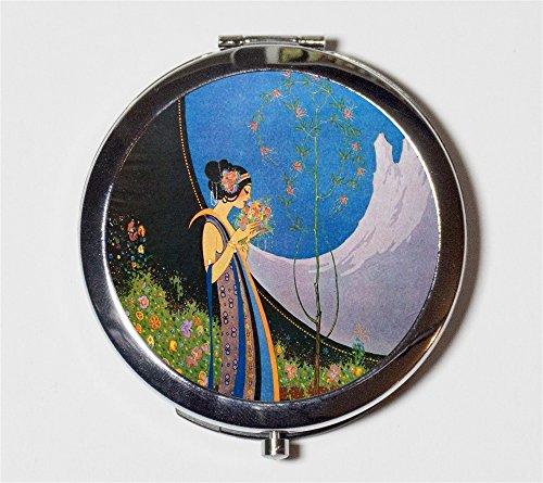 Flapper Art Deco Compact Mirror 1920