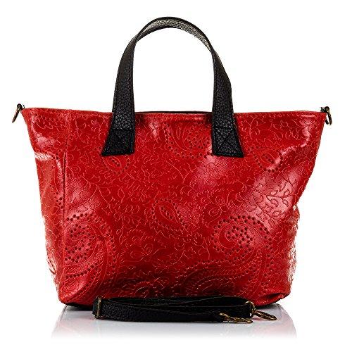 Rouge FIRENZE pour gris ARTEGIANI Cabas femme qr1xrzXwCn