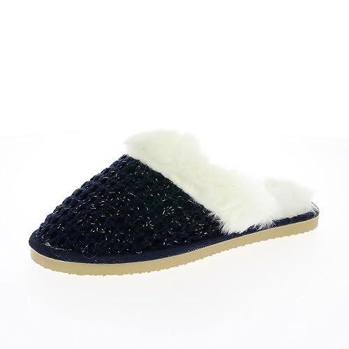 Dunlop para Mujer Zapatillas Azul Marino De Heidi: Amazon.es: Zapatos y complementos