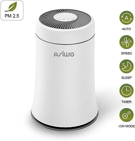 Asiwo purificador de aire para filtros de hogar de humo, polvo ...