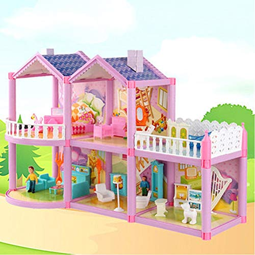 Pretend Play Doll House Toy Playset Portable Dollhouse, a Perfect Toddler Girls and Kids
