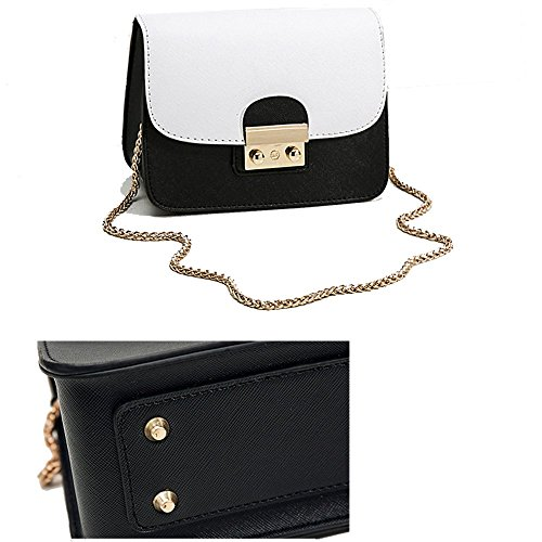 White Evening out Women Bag Purse Black and Girls and Black for Small for Night White TwqSP4qg1