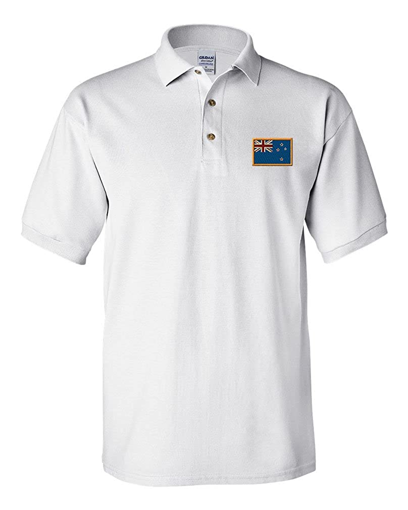 New Zealand Embroidery Design Adult Cotton Short Sleeve Polo Shirt POLONFLAG100_W2XL