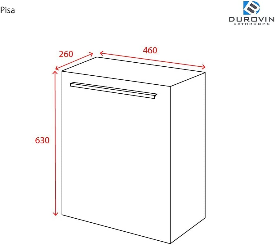 Soft Close Door White Wood Width 460mm Durovin Bathrooms Cloakroom Wall Mounted Vanity Unit With Stone Resin Basin