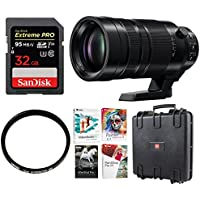 Panasonic Leica DG Vario-Elmar 100-400mm POWER O.I.S. Lens with 128GB Memory Card & Accessory Bundle