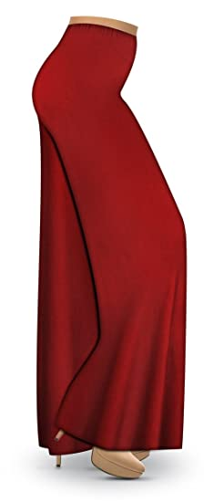 c0afe460e65 Solid Red Slinky Wide Leg Plus Size Supersize Palazzo Pants at Amazon  Women s Clothing store