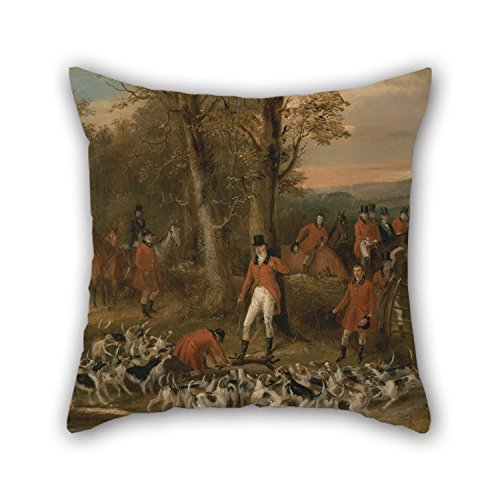 [18 X 18 Inches / 45 By 45 Cm Oil Painting Francis Calcraft Turner - The Berkeley Hunt, 1842- The Death Cushion Cases ,both Sides Ornament And Gift To Gril Friend,bar] (Leo Johnson Costume)