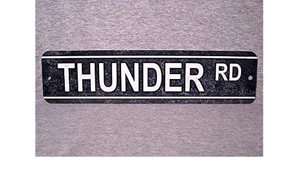 Cartel de Metal Thunder Road Street Rd Película de decoración de ...