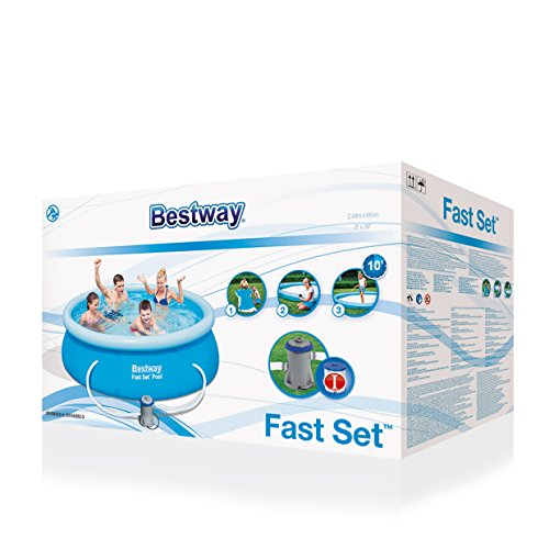 Bestway 8ft x 26in Fast Set Swimming Pool with filter pump #57100 by Bestway