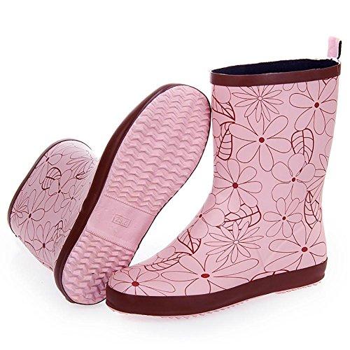 SONGYUNYAN Puddles rubber Women Mosaic Boot powder 's Rain rqTrC6