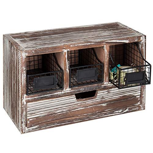 wood basket cabinet - 4
