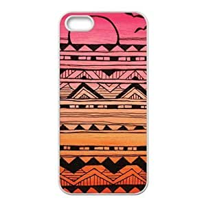 Apple iphone 5/5s case Aztec Andes Tribal Pattern soft rubber Durable ultrathin Seamless cover by Distinctive Design Studio wangjiang maoyi