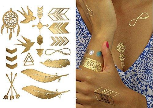 Premium Metallic Tattoos - 75+ Shimmer Designs in Gold, Silver ...