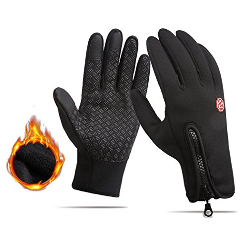 Screen Touch Gloves for Men & Women Waterproof Cycling Gloves Warm Texting Glove by PlainTown (Image #5)