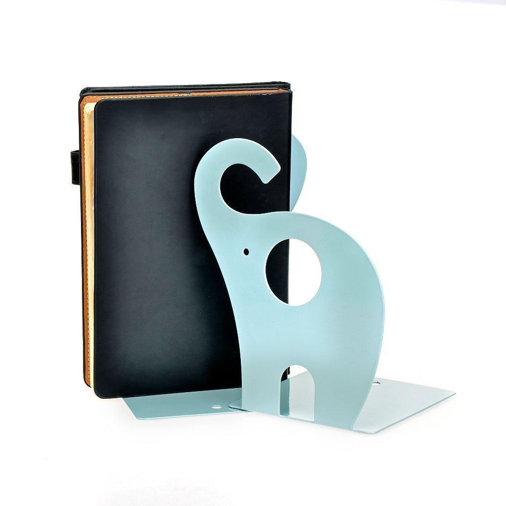 Bleu Itian Lot de 2 Serre-livres Presse-livres Antid/érapante en Forme d/él/éphant