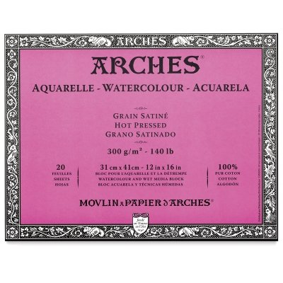 Arches 12-Inch x 16-Inch Acid-Free Cold-Press Watercolor Paper ()