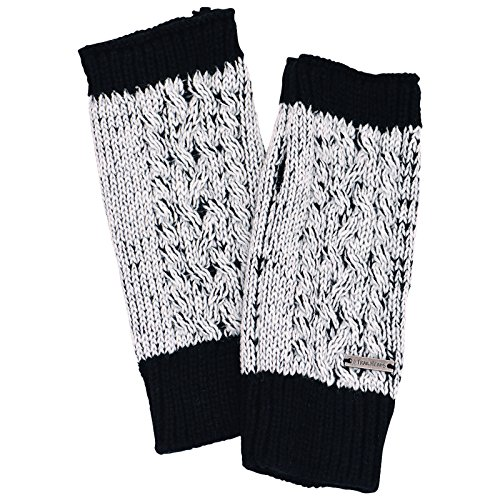 TrailHeads Cable Knit Women's Hand Warmers - black / white ()